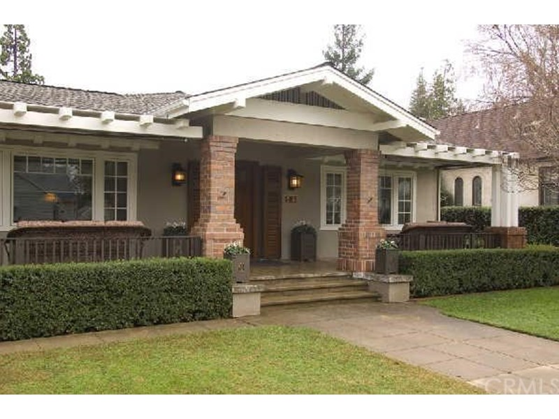 Craftsman style home. Large front porch. Lovely curb appeal.